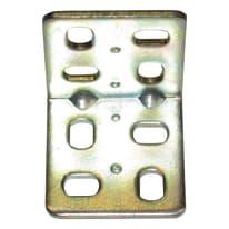 Piastra angolare standers acciaio zincato L 32 x Sp 2 x H 30 mm  4 pezzi