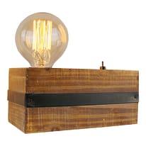 Lampada da scrivania Woodhill nero, in vetro, E27 MAX60W IP20 BRILLIANT