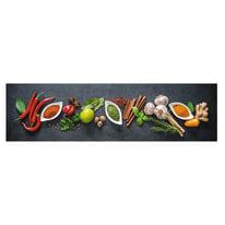 Passatoia Cucina antiscivolo Printo chef multicolor 180x50 cm