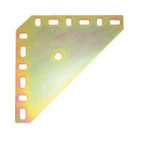 Piastra angolare standers acciaio zincato L 100 x Sp 1.5 x H 100 mm