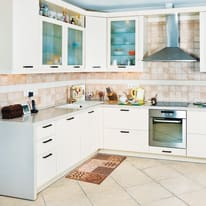 Tappeto Cucina antiscivolo Master cuore arancione 105x50 cm