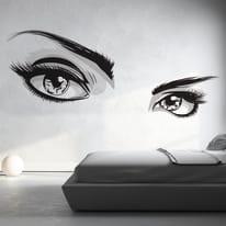 Sticker Wall eyes 9x106 cm