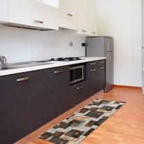 Tappeto Cucina antiscivolo Full nodo marrone 100x55 cm