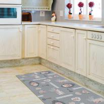 Tappeto Cucina antiscivolo Digit chic elite grigio 180x52 cm