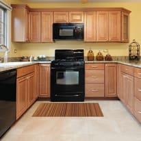 Tappeto Cucina antiscivolo Deco stripes arancione 75x53 cm