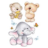 Sticker Cute animals 47x67 cm
