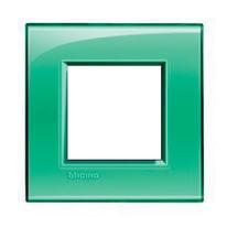 Placca BTICINO Living light 2 moduli verde opaco