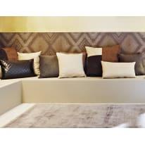 Cuscino grande Patchwork marrone 60x60 cm