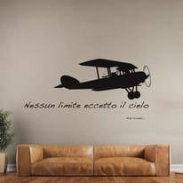 Sticker Airplane 14x73 cm