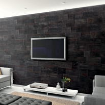 Rivestimento decorativo Brasilia grigio/nero