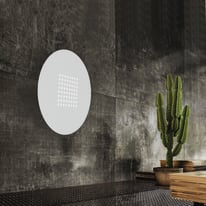 Plafoniera Tab tondo bianco, in vetro, diam. 40, LED integrato 18W IP20 LUMICOM