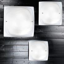 Plafoniera Lynn bianco, in vetro, 40x40 cm, E27 2xMAX60W IP20