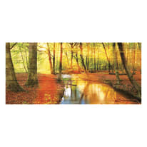 Quadro in legno River In Forest 50x110 cm