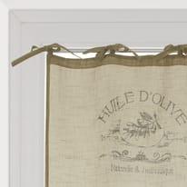 Tendina vetro Huile d'olive ecru lacci 60x120 cm
