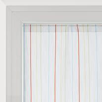 Tendina vetro Irene bianco tunnel 45x150 cm