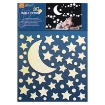 Sticker White stars 47x67 cm