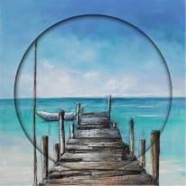 Quadro dipinto a mano The Pier 80x80 cm