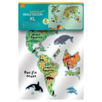 Sticker World map 47.5x70 cm