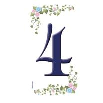 Numero Paradise 4 , 7.5 x 15 cm