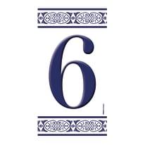 Numero Greca 6 , 7.5 x 15 cm