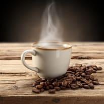 Vetro dipinto Caffè Caldo 30x30 cm