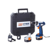 Trapano avvitatore a batteria DEXTER POWER , 12 V1.3 Ah, 2 batterie