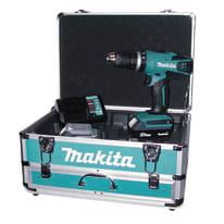 Trapano avvitatore a batteria con percussione MAKITA HP457DWEX4, 18 V1.3 Ah, 2 batterie