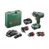 Trapano avvitatore a batteria con percussione BOSCH AdvanceImpact 18 QuickSnap, 18 V, 1.5 Ah, 2 batterie