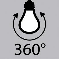 Lampadina LED E27 globo bianco caldo 8W = 1055LM (equiv 75W) 360° LEXMAN