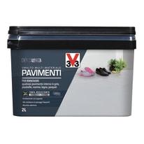 Smalto per pavimenti interni V33 grigio industriale 2 L