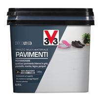 Smalto per pavimenti interni V33 grigio industriale 0.25 L