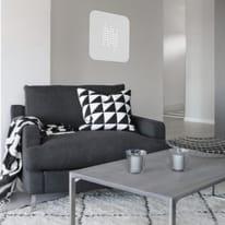 Plafoniera Tab quadro bianco, in vetro50 cm, LED integrato 30W IP20 LUMICOM
