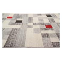 Tappeto Casa e grigio e rosso 180x60 cm
