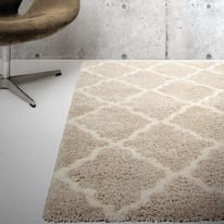 Tappeto Berber beige e crema 180x60 cm