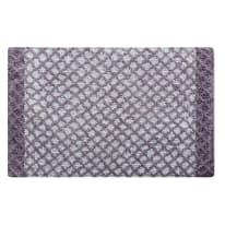 Tappeto bagno Lucia in 100% cotone lilla 80 x 50 cm