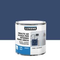 Smalto LUXENS base acqua blu zaffiro 1 opaco 0.5 L