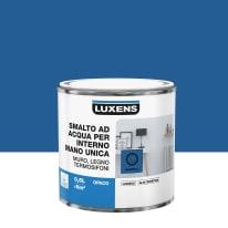 Smalto LUXENS base acqua blu zaffiro 2 opaco 0.5 L