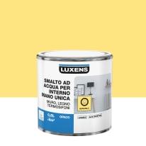 Smalto LUXENS base acqua giallo banana 5 opaco 0.5 L