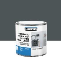 Smalto LUXENS base acqua grigio granito 1 opaco 0.5 L