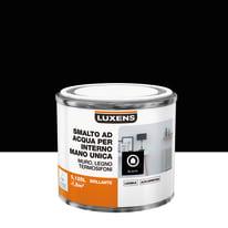 Smalto LUXENS base acqua nero lucido 0,125 L