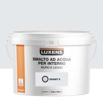 Smalto LUXENS base acqua grigio granito 6 lucido 2.5 L