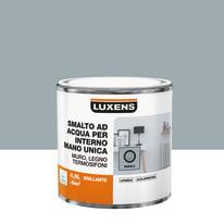 Smalto LUXENS base acqua grigio parigi 5 lucido 0.5 L