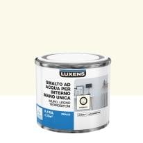 Smalto LUXENS base acqua bianco crema 5 opaco 0,125 L