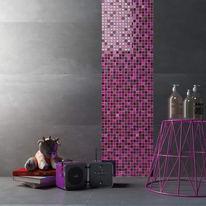 Mosaico Fucsia glit H 30 x L 30 cm rosa