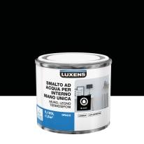Smalto LUXENS base acqua nero opaco 0,125 L