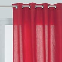 Tenda pronta INSPIRE Sunny rosso occhielli 140x280 cm