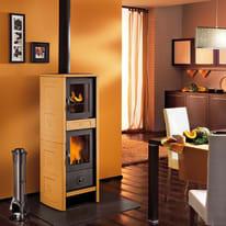 Stufa a legna con forno Morena 6.2 kW terra oriente