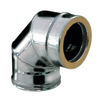 Curva 90° Curva inox doppia parete aisi 316L a 90° Dn 150/200 mm in inox 316l (elevata resistenza in condizioni climatiche estreme)