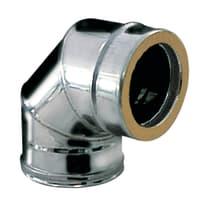 Curva 90° Curva inox doppia parete aisi 316L a 90° Dn 200/250 mm in inox 316l (elevata resistenza in condizioni climatiche estreme)