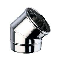 Curva 45° Curva inox aisi 316L a 45° Dn 130 mm in inox 316l (elevata resistenza in condizioni climatiche estreme)